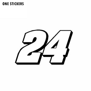 16CM*9.6CM Interesting Number 24 Decoration Car-styling Car Sticker Decal Vinyl C11-0863