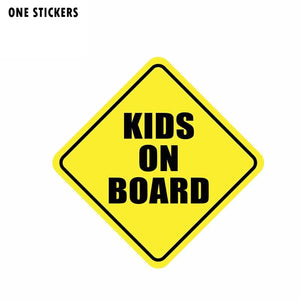 13.7CM*13.7CM KIDS ON BOARD Personality Car Sticker Decal PVC 12-40014
