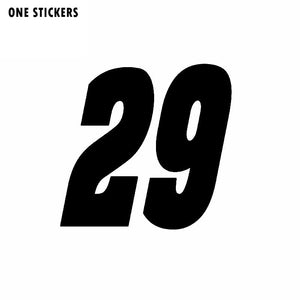 13CM*12.5CM Interesting Race Number #29 Vinyl Car Sticker Graphical Decal Black/Silver C11-0869