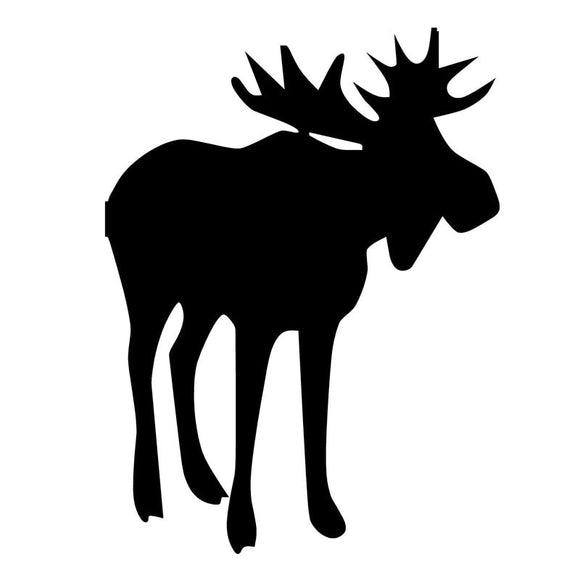 9.8*13CM Moose Car Sticker Decal Cartoon Animal Motorcycle Accessories Car Styling Black Silver C2-0390