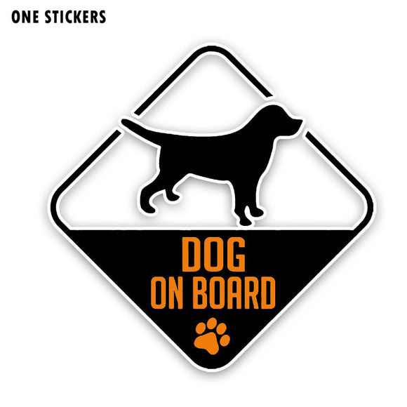 13.1CM*13.1CM DOG ON BOARD Decal PVC Interesting Print Car Sticker 12-40323