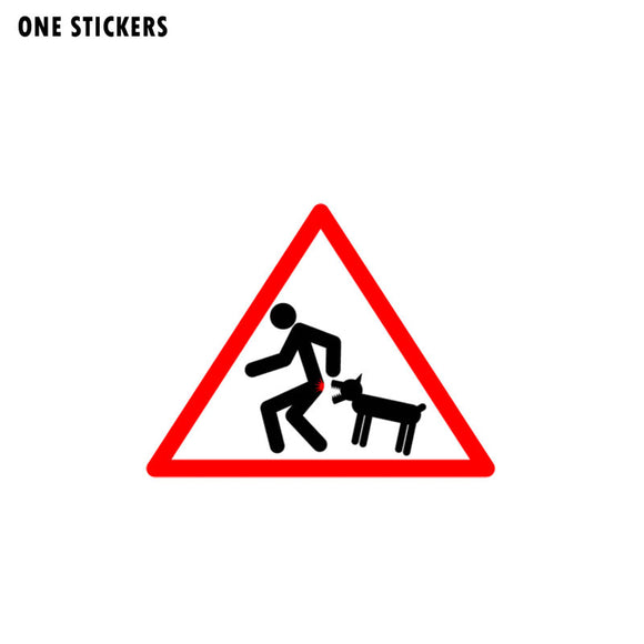 10.8CM*8.4CM Funny Caution Wicked Dog Car Sticker PVC Reflective Decal 12-1436