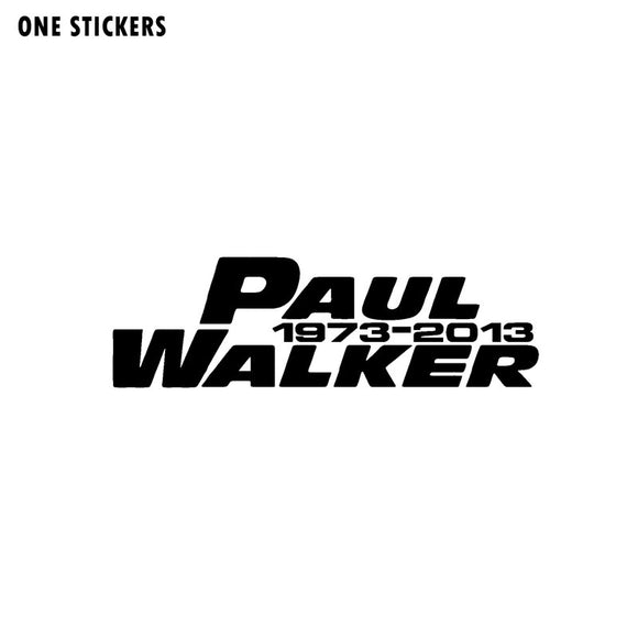 15CM*4.6CM PAUL WALKER Fashion Vinyl Decal Car-styling Car Sticker Black/Silver C11-0493