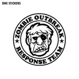 12*12CM ZOMBIE OUTBREAK RESPONSE Decal Interesting Vinyl Motorcycle Car Stickers Black/Silver S8-1273