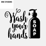 13.5CM*11.7CM Interesting Wash Your Hands Car Window Sticker Decal Black Silver Vinyl Accessories C11-1666