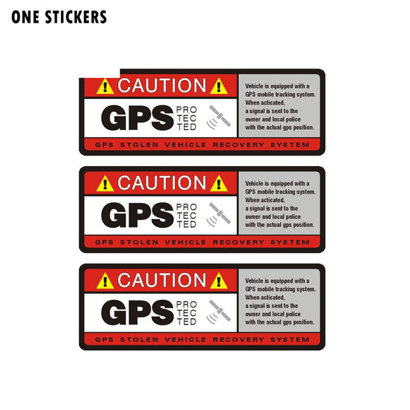 10.2CM*3.8CM Warning Caution GPS Protected Car Sticker Decal PVC 12-0912