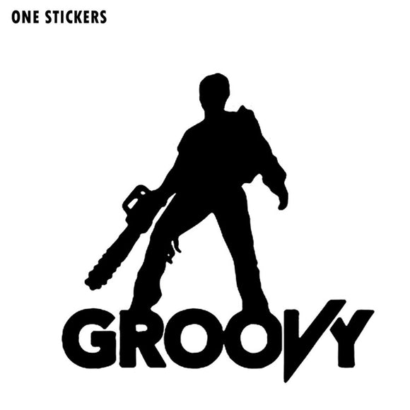 15CMX15CM Cartoon ZOMBIE GROOVY Black/Silver/Red Car Sticker Vinyl Decals Accessories S8-1162