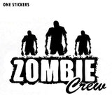 16.7*12.5CM Funny ZOMBIE Crew Vinyl Car Sticker Decal Car-styling Accessories S8-1281