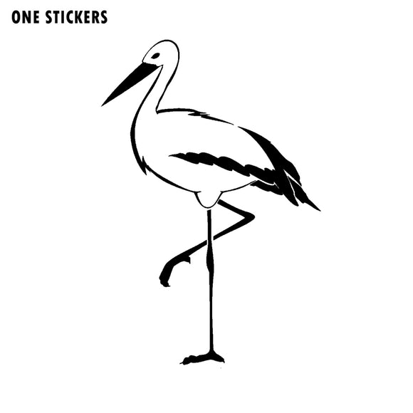 11.2CM*16.7CM Fashion Animal Heron Wader Marsh Bird Long Leg Vinyl Car Sticker Windshield Decal C15-0802