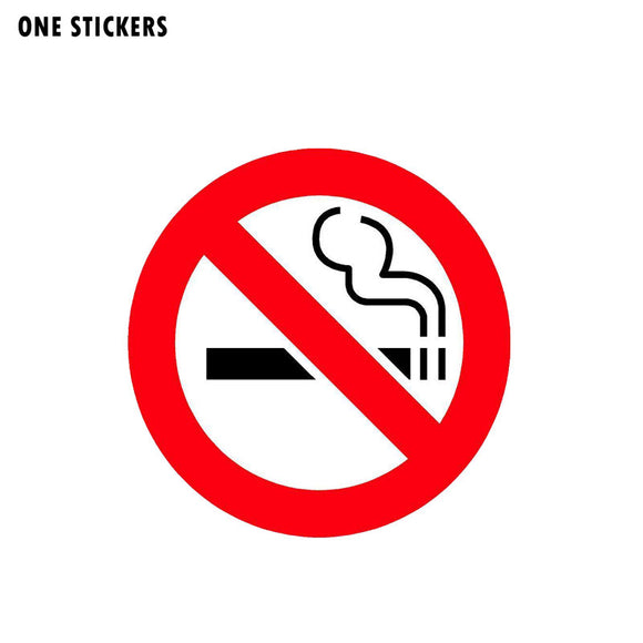 12.7CM*12.7CM  Funny No Smoking PVC Decal WARNING Car Sticker 12-0794