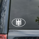 15.6CM*9.8CM Fashion German Eagle Crest Oval Car Sticker Vinyl Decal Accessories C15-0863