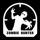 10.5CMX10.5CM Fashion ZOMBIE Hunter Crosshairs Target Rifle Vinyl Decals Car Window Sticker Black/Silver S8-1165