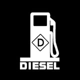 11CM*15.8CM Funny DIESEL Fuel High-quality Vinyl Decor Car Sticker Decals Black/Silver C11-0621