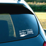 15.7CM*7CM Funny My Other Ride Is A Nimbus 2000 Vinyl Car Sticker Black Silver Decal C11-1387