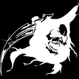 17.4X16.1CM Funny Grim Reaper Head SKULL Scythe Vinyl Car-styling Decal Car Sticker Black/Silver S8-1199