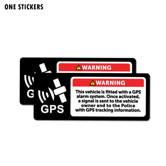 12CM*4.8CM Car Warning Gps Alarm System Stickers Decal PVC 12-0690