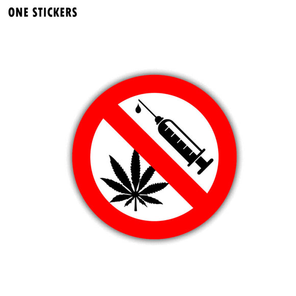 10CM*10CM Warning Car Sticker PVC No Drugs Danger Decal 12-1448