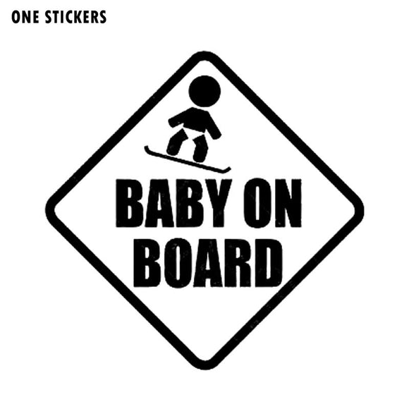 15*15CM BABY ON BOARD Car Styling Warning Decals Cute Cartoon Stickers C1-3041