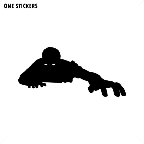 18.1*8.4CM Cartoon ZOMBIE Funny Vinyl Decal Car Sticker Black/Silver Car-styling S8-1257