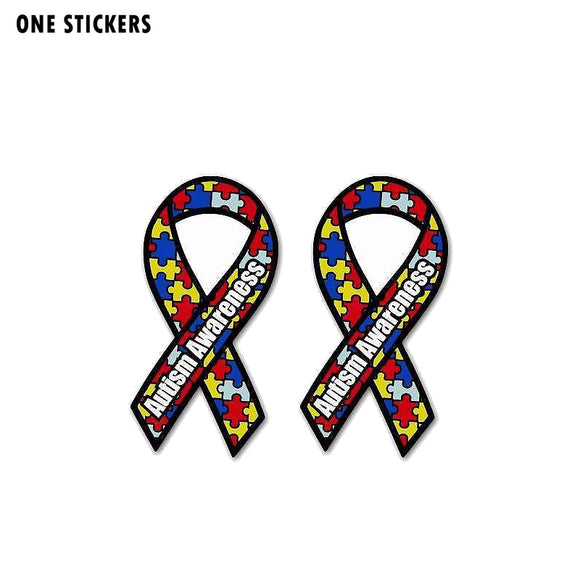 5CM*9.5CM Funny Creative Autism Awareness Car Sticker PVC Decal 12-1377