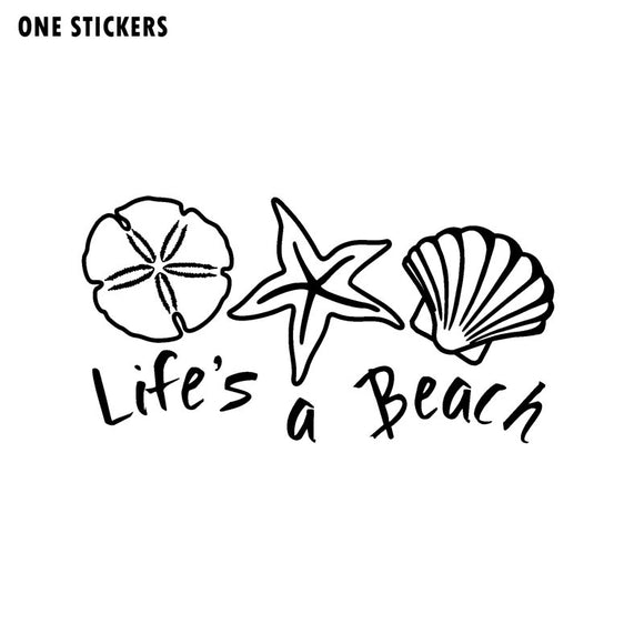 15.9cm*9.1cm It's Enjoy To The Beach Unparalleled Sea Star Vinyl Decal Beautiful Black/Silver Car Sticker C18-0220