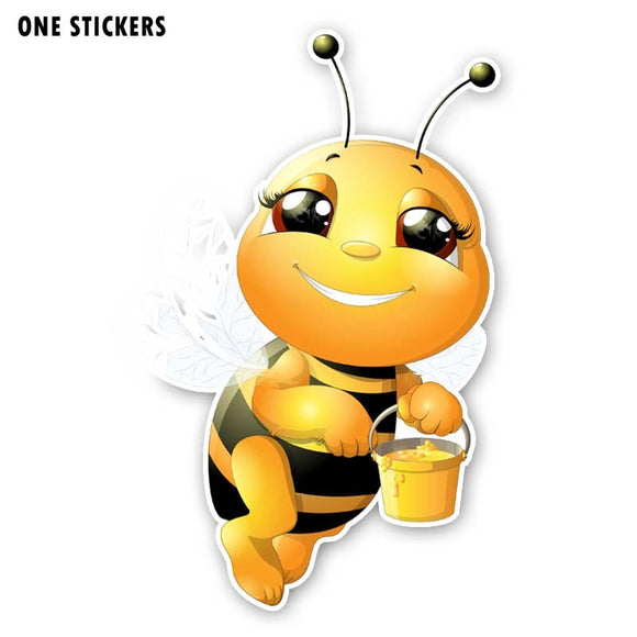 9.4CM*15.3CM A Diligent Bee PVC Decal Interest Car Sticker 12-300572