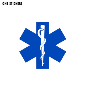 12CM*12CM Personality Star of Life Hard Hat Stickers PVC Car Decal 12-0413