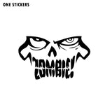 14.8CMX8.9CM Interesting ZOMBIE Face Vinyl Decals Car Window Sticker Car-styling Black/Silver S8-1166