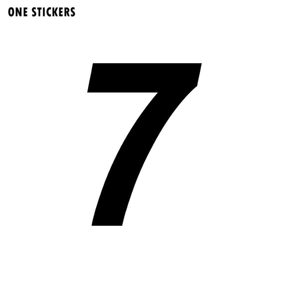 9.8CM*14CM Interesting Number 7 Vinyl High-quality Car Sticker Decoration Decal Black/Silver C11-0781