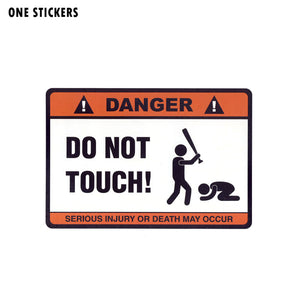 14.7CM*10.2CM DANGER DO NOT TOUCH Car Sticker Funny Decal PVC 12-0914