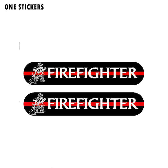 13CM*2.4CM A Funny Fireman Car Sticker Reflective Decal PVC 12-0497