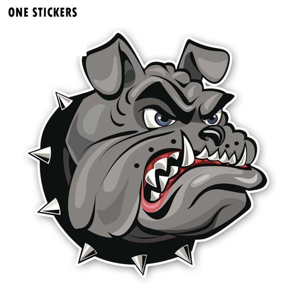 15.4CM*15.8CM A Vicious Dog PVC Cartoon Sticker Car Decal 12-300267