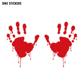 13.1CMX18CM Bloody Zombie Hand Vinyl Car Sticker Decals Red/Black/Silver C1-5016