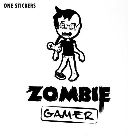 11x15.5CM Cartoon Interesting ZOMBIE Gamer Vinyl Decals Car Sticker Black/Silver Accessories S8-1212
