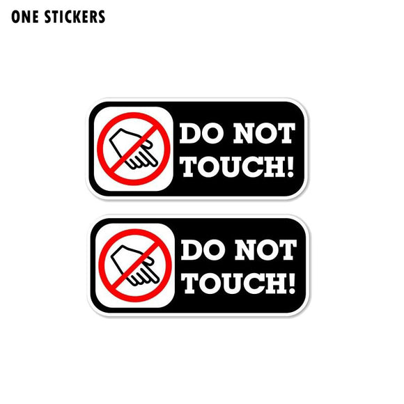 10.6CM*4.6CM Warning Car Sticker Do Not Touch Decal PVC 12-1070