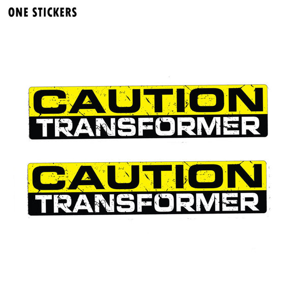 15CM*3CM Creative CAUTION TRANSFORMER Car Sticker PVC Decal 12-1185