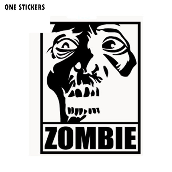 10.5*13.9CM ZOMBIE Head Apocalypse The Walking Dead Vinyl Decals Car Window Sticker Black/Silver S8-1259