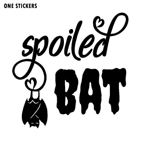 16.4cm*16.2cm Personality Design Small Slightly Spoiled Upside Down Bats Light Vinyl Car Sticker Exquisite Decal C18-0863
