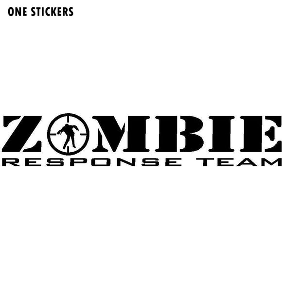 18CMX3.4CM ZOMBIE Response Team Decals Killer Apocalypse Hunter Vehicle Graphics Car Sticker Black/Silver Vinyl S8-1153