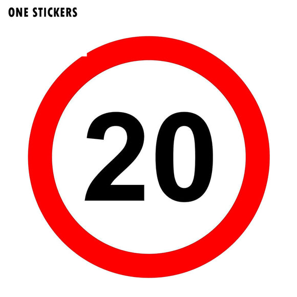 12CM*12CM Reflective Warning 20 Mph Speed Car Sticker PVC Decal 12-1269