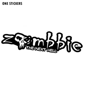 18.8CMX5CM Personality ZOMBIE Decals Car-styling Black/Silver Vinyl Motorcycle Car Stickers S8-1174
