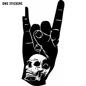 10X20CM SKULL Hand Rock N Roll Fashion Vinyl Decal Car Sticker Car-styling S8-0584