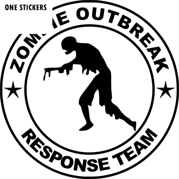 15*15CM ZOMBIE OUTBREAK RESPONSE TEAM Funny Black/Silver Vinyl Car-styling Car Sticker S8-1286
