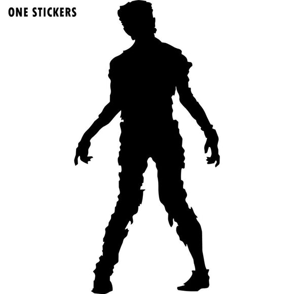 7.9x16.3CM Spooky Halloween ZOMBIE Decal Car Sticker Black/Silver Vinyl Car-styling S8-1220