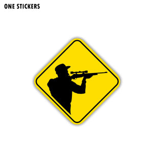 11.5CM*11.5CM Warning Car Sticker Hunters Reflective Decal PVC 12-1505