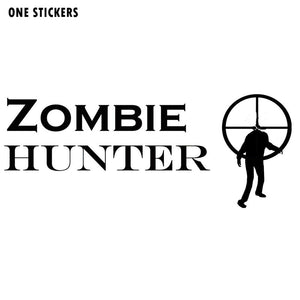 15.5*6.2CM Interesting ZOMBIE Hunter Motorcycle Car Sticker Decal Black/Silver Vinyl S8-1236