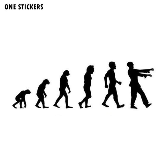 16.5*5.5CM ZOMBIE Evolution Interesting Vinyl Car-styling Car Stickers Black/Silver Decals S8-1275