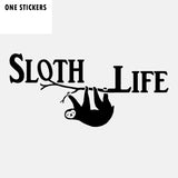 13.8CM*6.2CM Sloth Life Funny Vinyl Car Window Sticker Decal Black Silver C11-2057