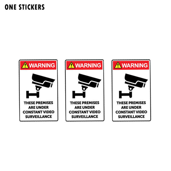 5.6CM*9CM Car Sticker These Premises Are Under Constant Video Surveillance Warning Decal PVC 12-1020