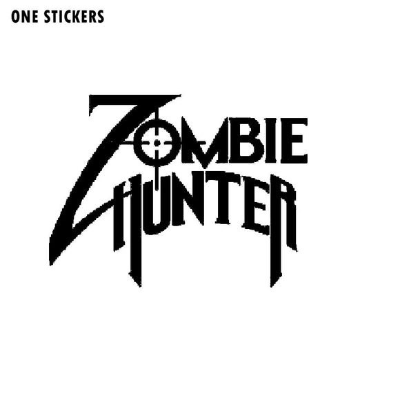 13.5x10CM ZOMBIE Hunter Crosshairs Rifle Sights Personality Vinyl Car-styling Decals Car Sticker Black/Silver S8-1227